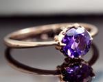 2月の誕生石 アメジスト リング(指輪)