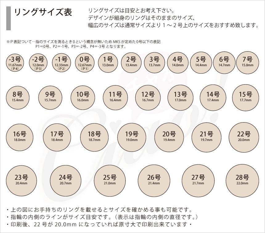 リング(指輪)サイズ表